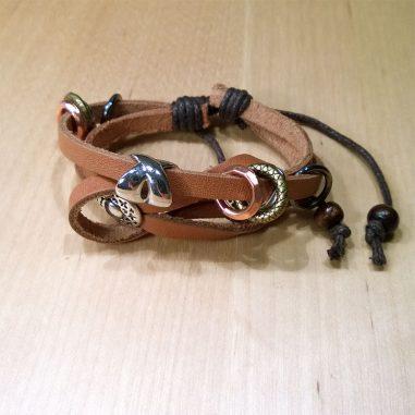 metall perlen lederarmband2