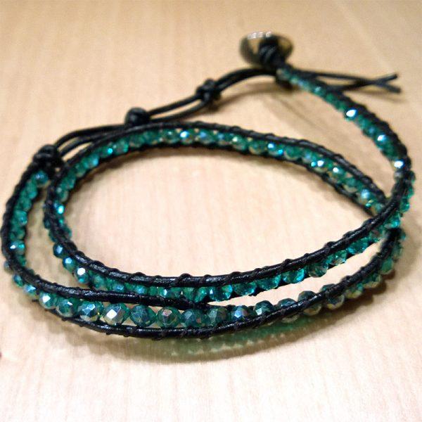 wie ein smaragd wickelarmband3