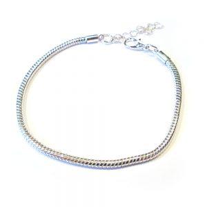 schlangenarmband silbern 3mm Damen