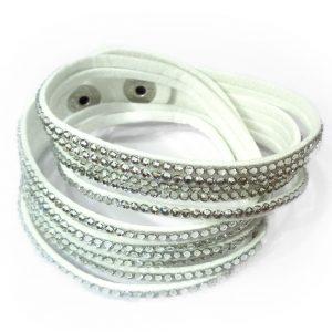 slake armband weiß strass zikonia damen