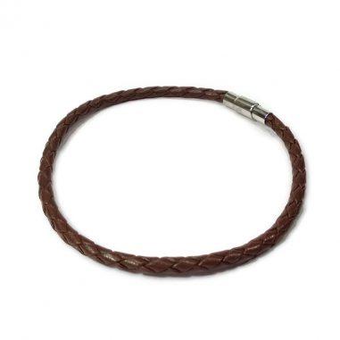 lederarmband plain braun