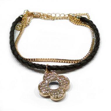 leder gold armband