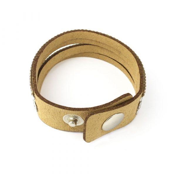 wildleder multi armband strass gold silber verschluss damen zirkonia