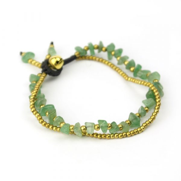 jade armband gold messing thai hippie