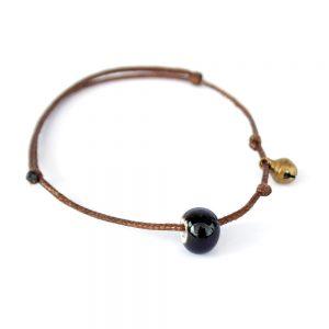 hippie armband glasperle schwarz