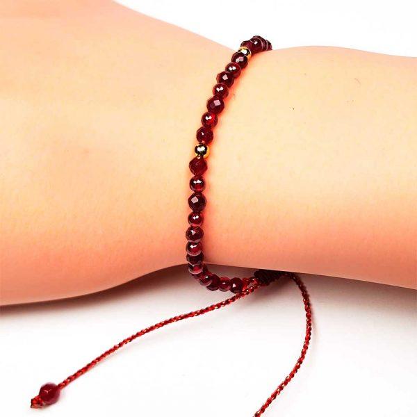 granat naturstein armband