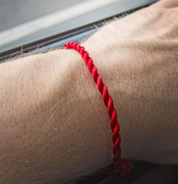 kabbala armband einfach rot zart