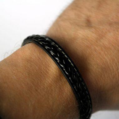 lederarmband schwarz clip1