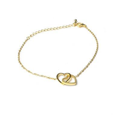 armband herzen liebe freundschaft zart gold