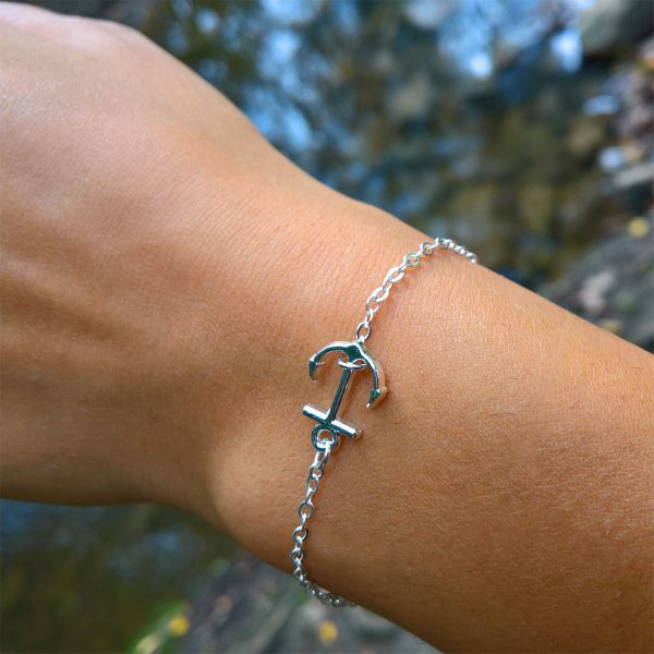 mini anker armband silber dünn