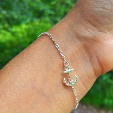 mini anker armband silber fein zart