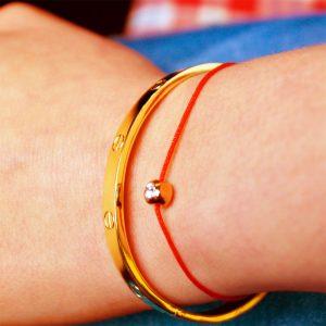 armband rot zirkonia gold zart