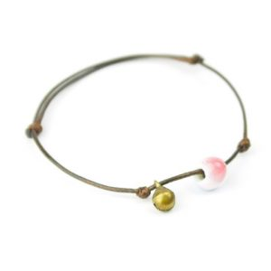 thai damen lederarmband filigran zart messing hippie