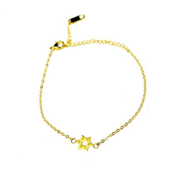 armband davidstern gold zart 1