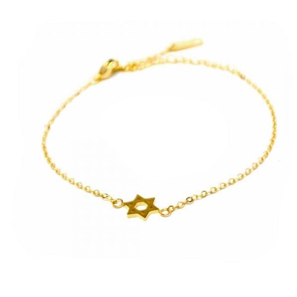 armband davidstern gold zart 2 1