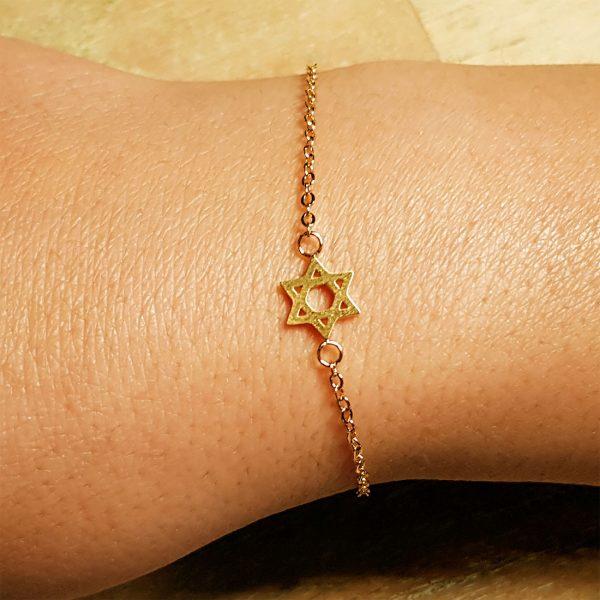 armband davidstern gold zart 4