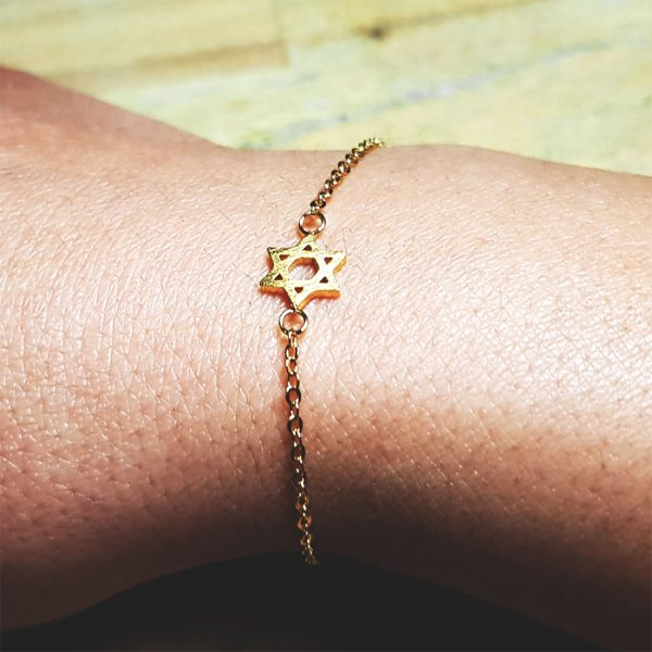 armband davidstern gold zart