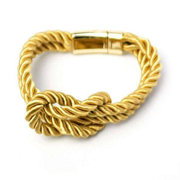 damen armband knoten gold schlaufe