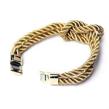 damen armband knoten gold 2
