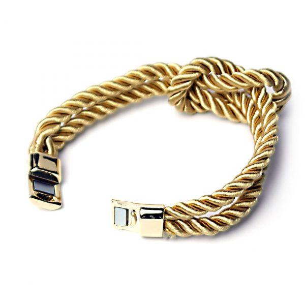 damen armband knoten gold schlaufe offen