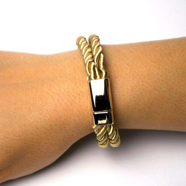 armband golden knoten damen geschlossen