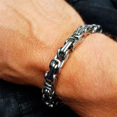 koenigskette armband männer 8 mm edelstahl