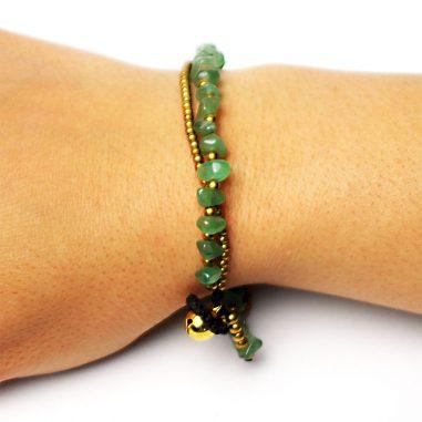 tibet armband damen jade gruen gold