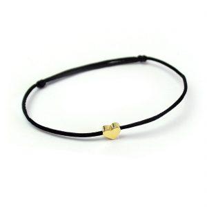 herz armband liebe verliebt gold schwarz