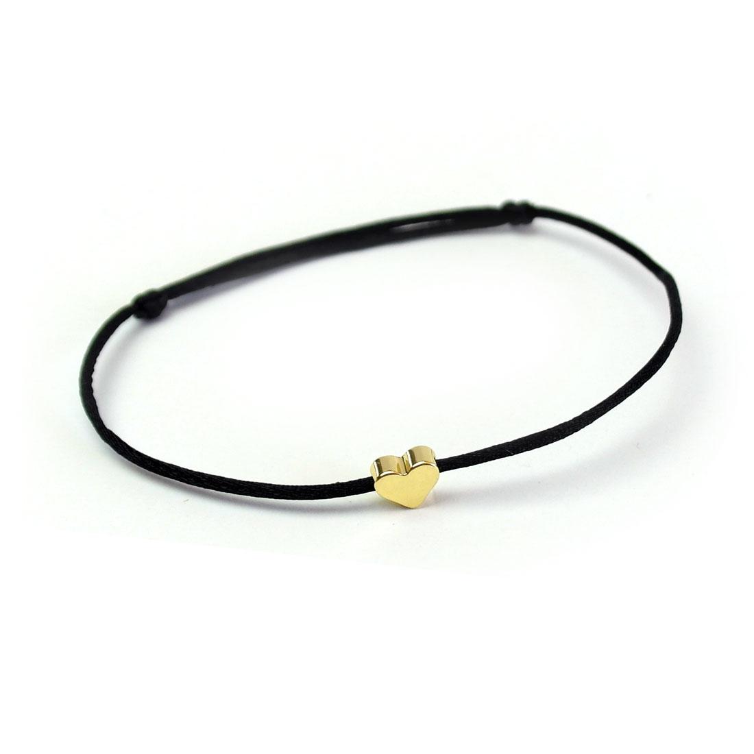 armband schwarz mit herz gold armband onlineshop. Black Bedroom Furniture Sets. Home Design Ideas
