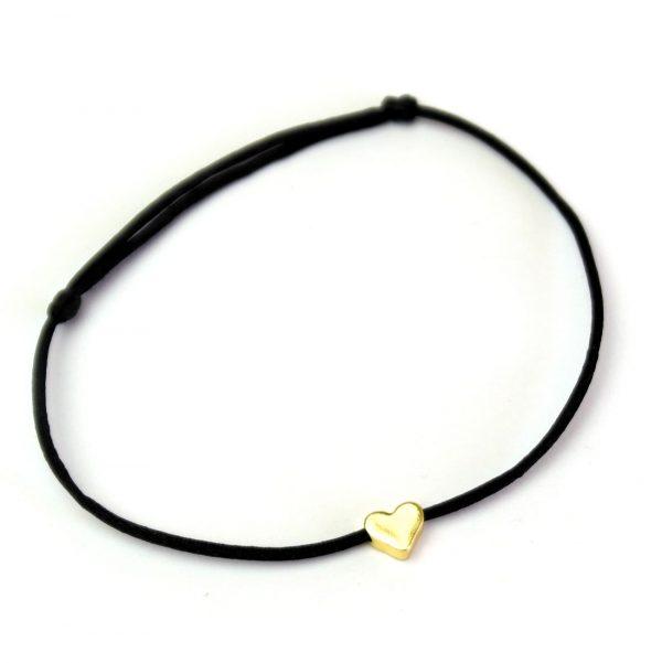 damen herz armband liebe verliebt gold schwarz 2