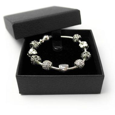 charm beads armband silber geschenk