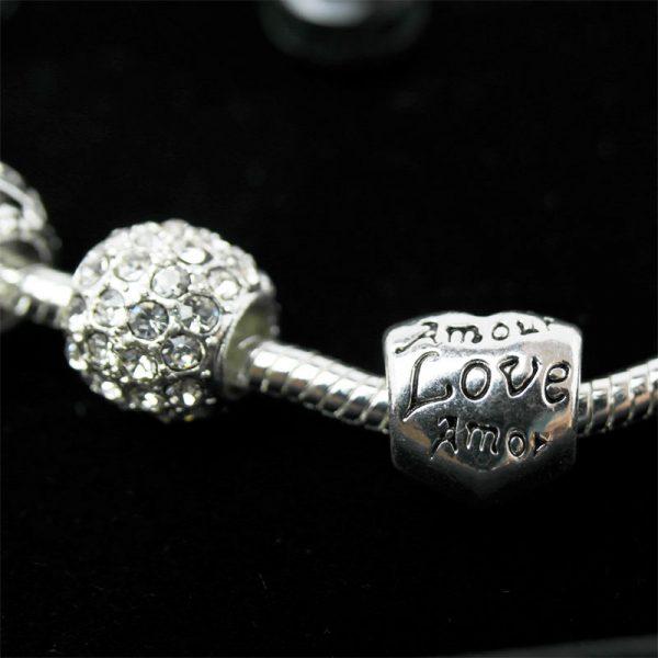 armband silber geschenk charme detail