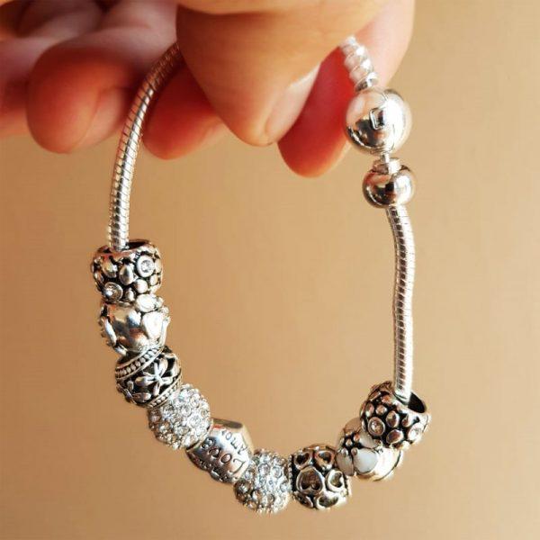 armband silber geschenk charme hand 1