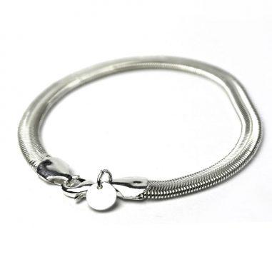 armband silber schlangenkette flach edel 2