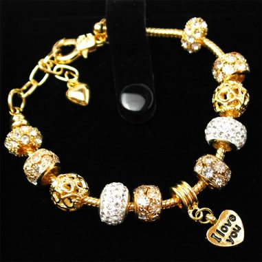 charms beads armband gold geschenk
