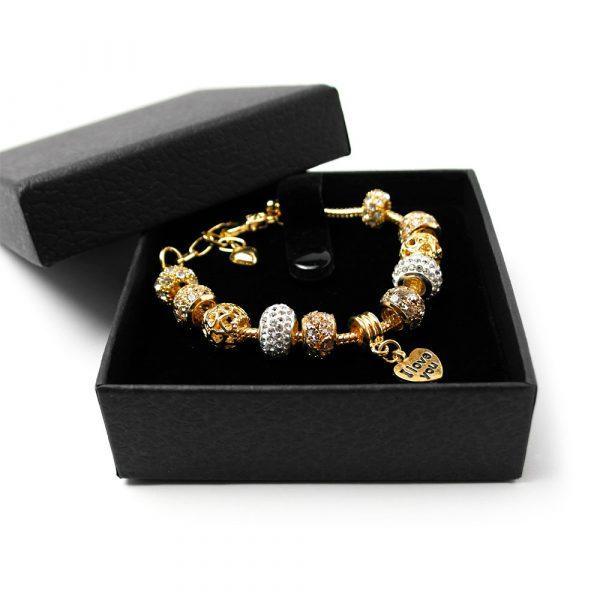 elementarmband gold geschenk charme 2