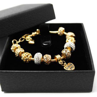 elementarmband gold geschenk charme