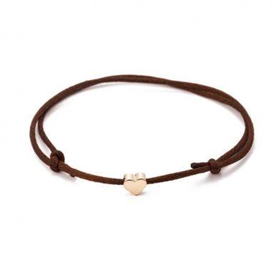 herz-armband-dunkelbraun