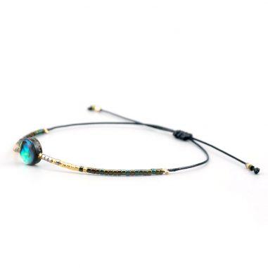 rocailles abalono armband handgemacht zart