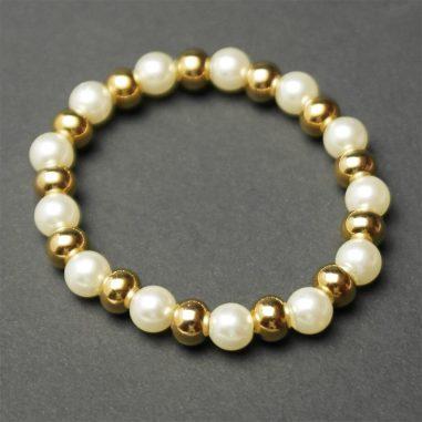 armband gold perlen 1