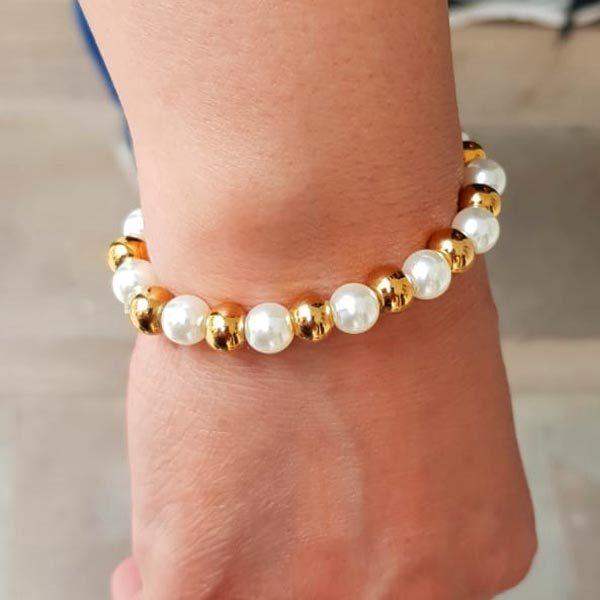 perlen armband gold perlen