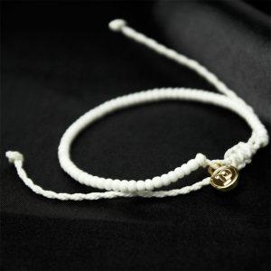 armband zart weiss mini perlen