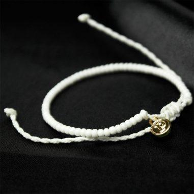 rocailles perlen armband zart weiss