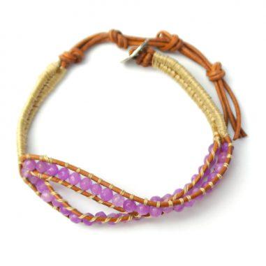 armband lila kristall hippie 2