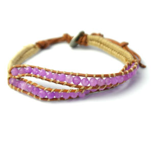 armband kristall lila hippie