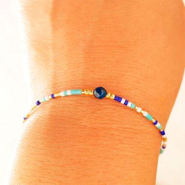 rocailles armband duenn blau 3