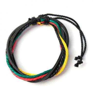 surferarmband red gold green rasta 2