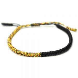 tibet glücksarmband geflochten buddha