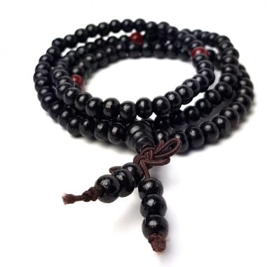 holzperlen armband buddha