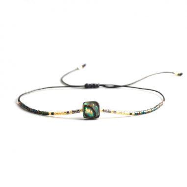 abalone miyuki armband edel gold